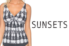 Sunsets Venetian Dream Swimwear Top Tankini Underwire Style 16-VEDR-77EFGH