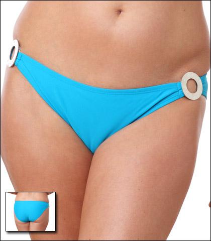 Aerin Rose Mediterranean Scoop with Hammered Ring Swimsuit Bikini MN84511