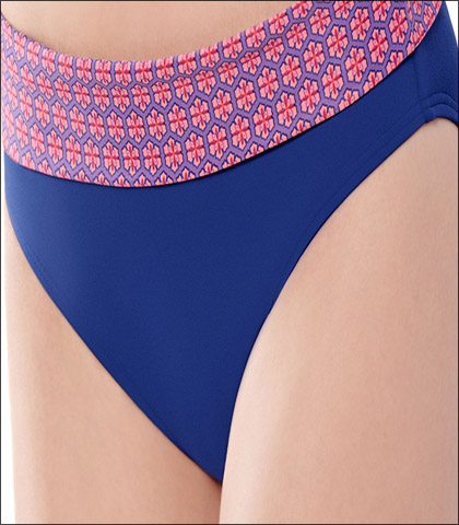 Captiva Marina Tile Swimwear Bottom Brief Sunset Style 33MT4046