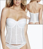 Dominique Embroidered Lace Torsolette 8900