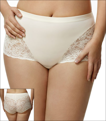 Elila Underwear Brief Lace Microfiber Style 3311-IV
