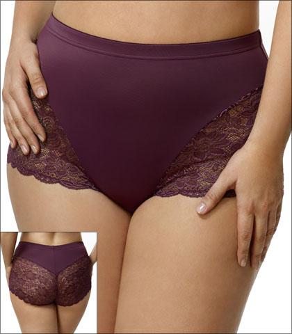 Elila Underwear Brief Lace Microfiber Style 3311-PL