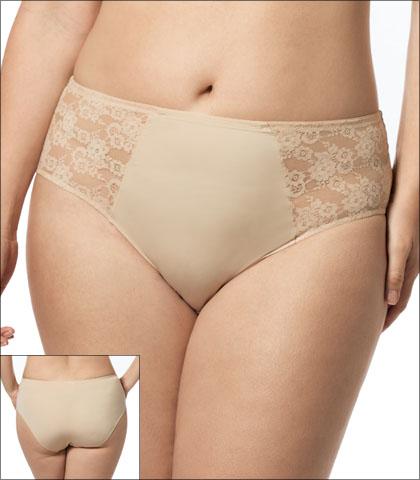 Elila Underwear Brief Lace Microfiber Style 3503-NU