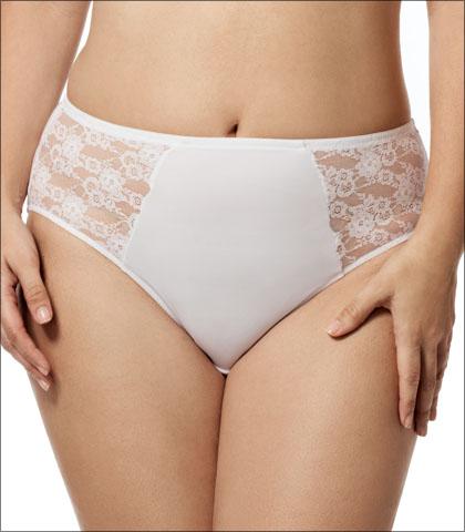 Elila Underwear Brief Lace Microfiber Style 3503-WH