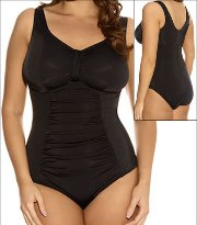 Elomi Swim Essentials Isis Gathered Suit Style 7035-BLK