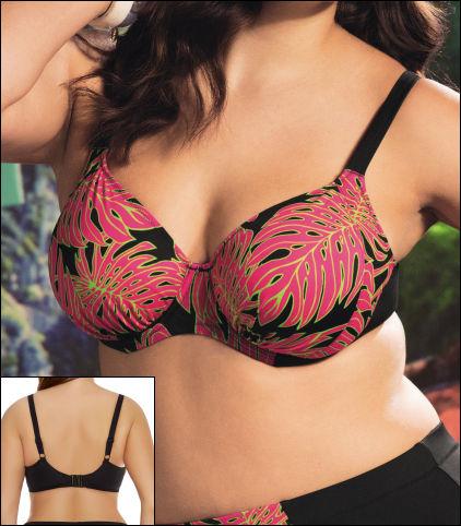 Elomi Rhapsody Underwire Gathered Bikini Top Style 7063-BLK