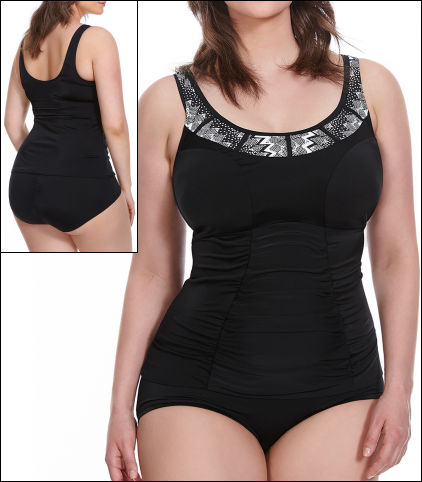 Elomi Lucky Star Swimwear Top Tankini Wire Free Molded Style 7526-BLK