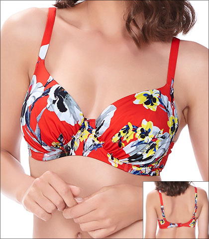 Fantasie Calabria Swimwear Top Bikini Underwire Gathered Full Cup Style 6257