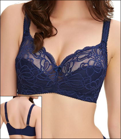 e2aaad46e938 Fantasie Jacqueline Lace Soft Cup Bra Style FL9402-NAY