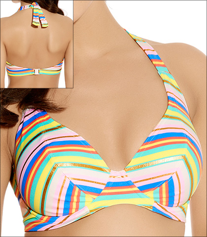 Freya Beach Candy Pastel Underwire Banded Halter Bikini Top Style 3308