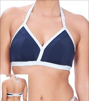 Freya In The Navy Swimwear Top Bikini Wire Free Halter Triangle Padded Style 3859 FRY-3859