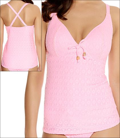 Freya Spirit Pink Sorbet Soft Cup Plunge Tankini Top Style 3906
