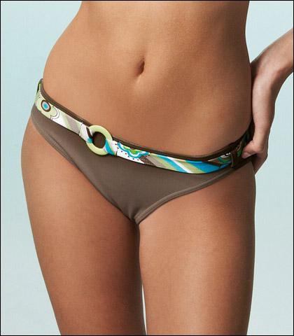 Freya Disco Lemonade Classic Swimsuit Brief With Belt 9821