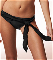 Freya Black Russian Classic Scarf Tie Swimsuit Brief 9835