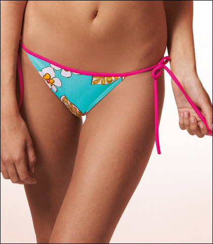 Freya Raspberry Limbo Tie Side Swimsuit Brief 9860