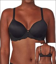 Le Mystere Tisha Transformative Bra Underwire T-Shirt Seamless Molded Lace Style 945-BLK