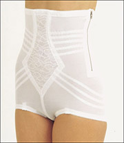 Rago Shapette Inner-Band Control Zippered Hi-Rise Brief Panty 6101