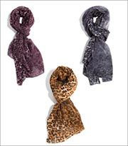 Bay Sky Leopard Fabric Scarf Style BSS1412