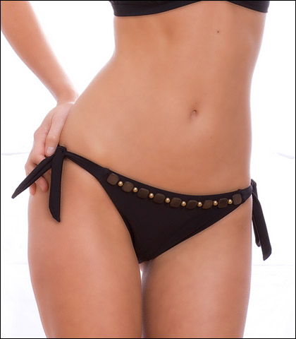 Storm in a D Cup Black Forest Swimsuit Tie Side Pant 9601TBF