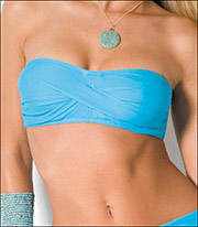 Twist Bandeau Bikini Swimsuit by Sunsets Separates 47T