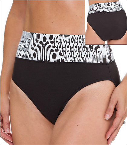 Tara Grinna Camps Bay Swimwear Bottom Bikini Fold Down Style 16-CM-213