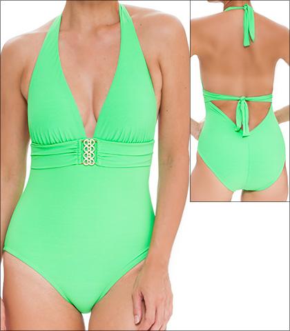 Tara Grinna Envy Swimwear One Piece Halter Style 16-EN-339