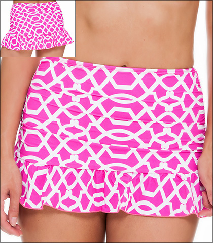 Tara Grinna Playa Paraiso Swimwear Bottom Skirted High Waist Style 16-PA-222