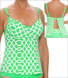 Tara Grinna Playa de Ses Illetes Swimwear Top Tankini Underwire  available from Big Girls Bras, Click for more Details