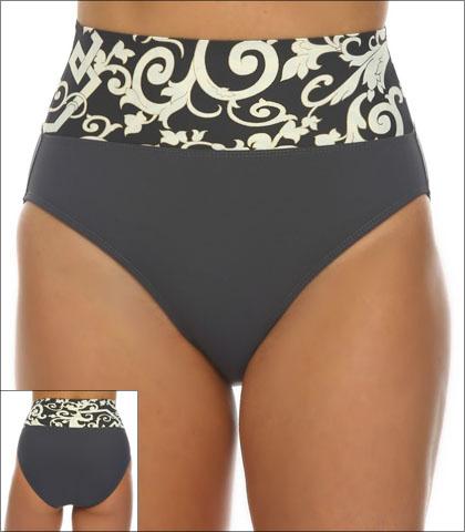 409646cbf0b5d Tara Grinna White Beach Swimwear Bottom Bikini Fold Down Style 16-WH-213