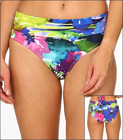 Tara Grinna Kailua Beach Swimwear Bottom Bikini Hi Rise Fold Waist Style 17-KA-213