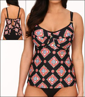 Tara Grinna Marrakesh Swimwear Top Tankini Underwire  available from Big Girls Bras, Click for more Details