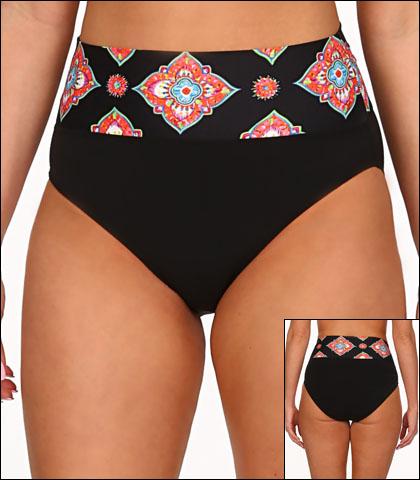 Tara Grinna Marrakesh Swimwear Bottom Bikini Hi Rise Fold Waist Style 17-MK-213