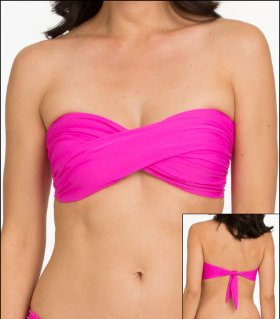 Tara Grinna Candy Swimwear Top Bikini Bandeau Halter  available from Big Girls Bras, Click here to visit their site.