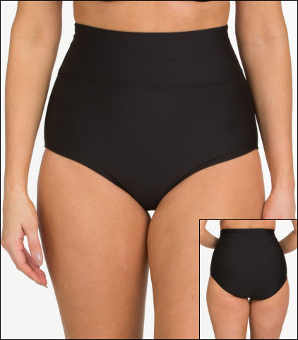 001f73da2a736 Tara Grinna Black Swimwear Bottom High Rise Style 18-FT-233