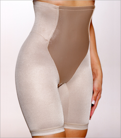 0a9bdd43a Va Bien Everyday and Shapewear Plus Size Fashion Firm Smooth Control Satin  Panel Hi Waist Long Leg 3757A