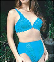 Valmont Embroidered Lace Front Hook Underwire Bra Style8323