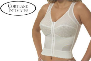 Cortland Intimates Back Support Soft Cup Longline Bra Style 9603