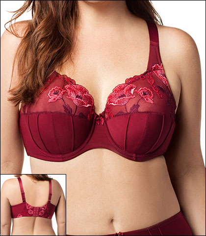Elila Glamour Embroidery Underwire Bra Style 2021-BR