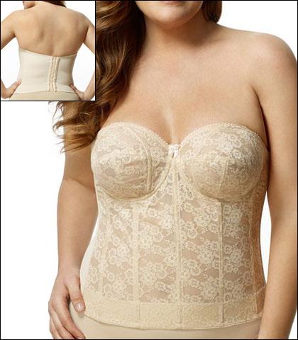 Elila Lace Strapless Longline Bra Style 6621-NU