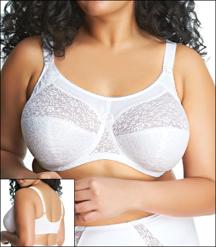 Goddess Adelaide Underwire Full Cup Bra Style GD6661-WHE
