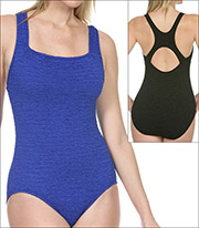 b62a420725 Penbrooke Krinkle Swimwear One Piece Style 70006-BLK