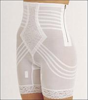 Large Beige Rago Shapewear Long Leg Pantie Girdle Style 6795
