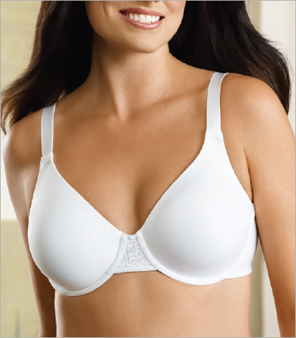 Vanity Fair Full Figure Bras Back Smoothing Minimizer Full Figure Underwire Bra 76080